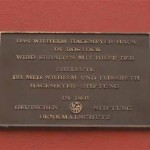 Plakette der Hagemeyer-Stiftung.