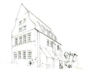 Eine der ersten Skizzen unseres Hauses